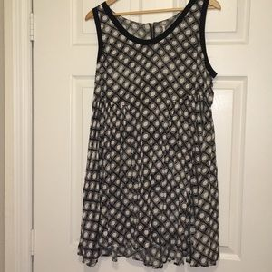 Large Free People Black and White Dress